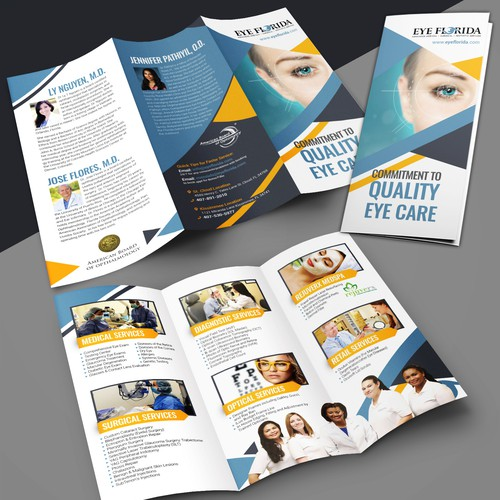 Eye Florida needs modern clean trifold marketing brochure