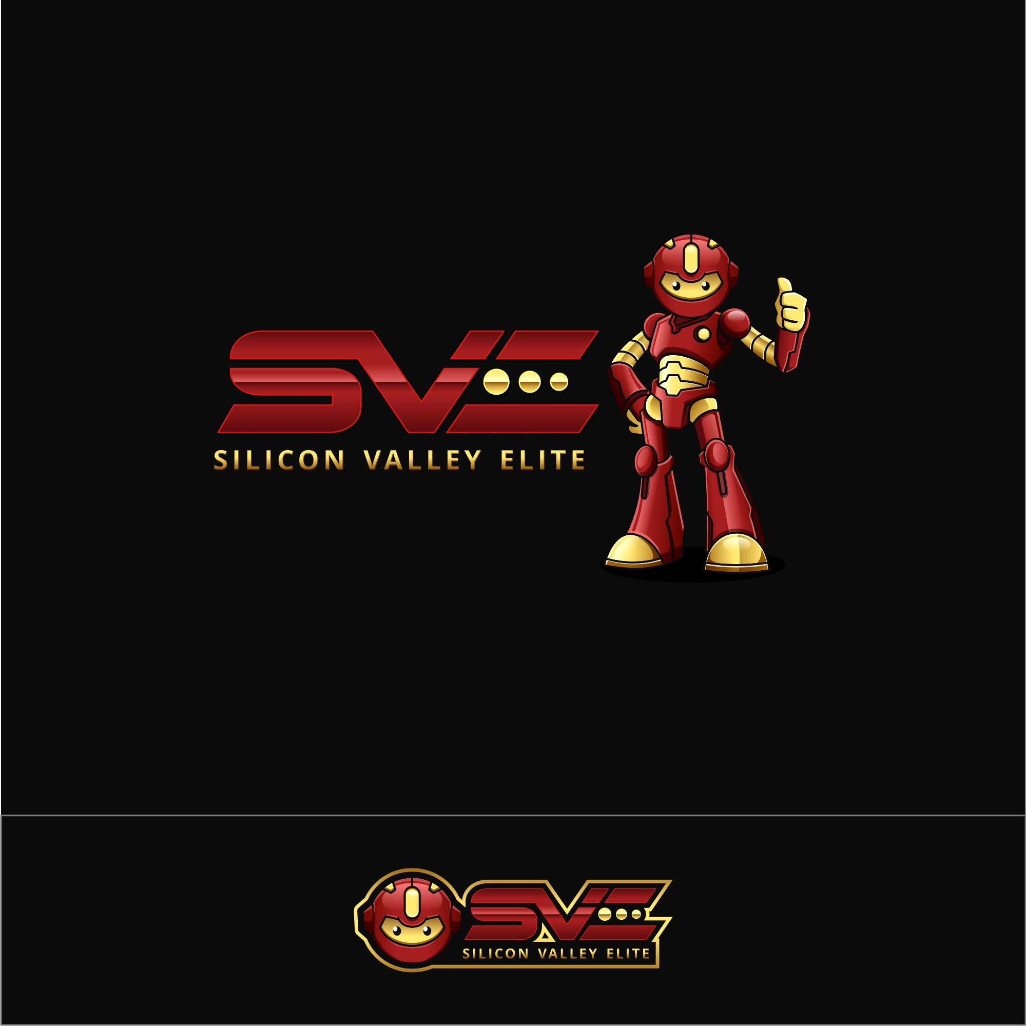 Competitive Cheerleading Gym in the Silicon Valley needs a intense Logo with a robot similar to Mega Man!