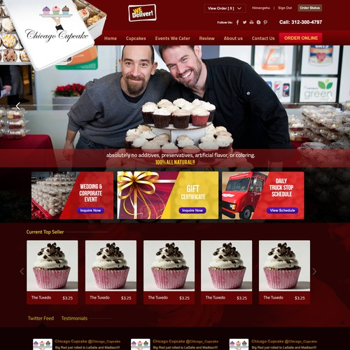 Design the new website for Chicago Cupcake! Our cupcake truck is a favorite in the Chicago area