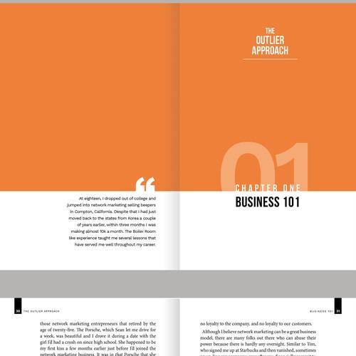 Book interior design