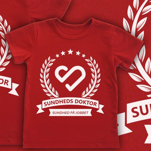 Create a cool t-shirt for SundhedsDoktor - job health promotion