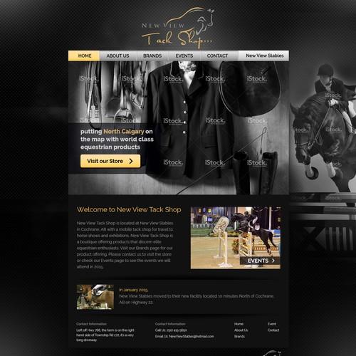 New View Tack Shop Website