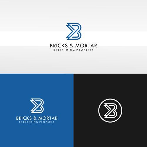 logo concept for bricks & mortar