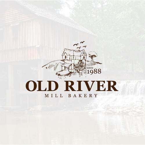 Logo concept for Old River Mill Bakery