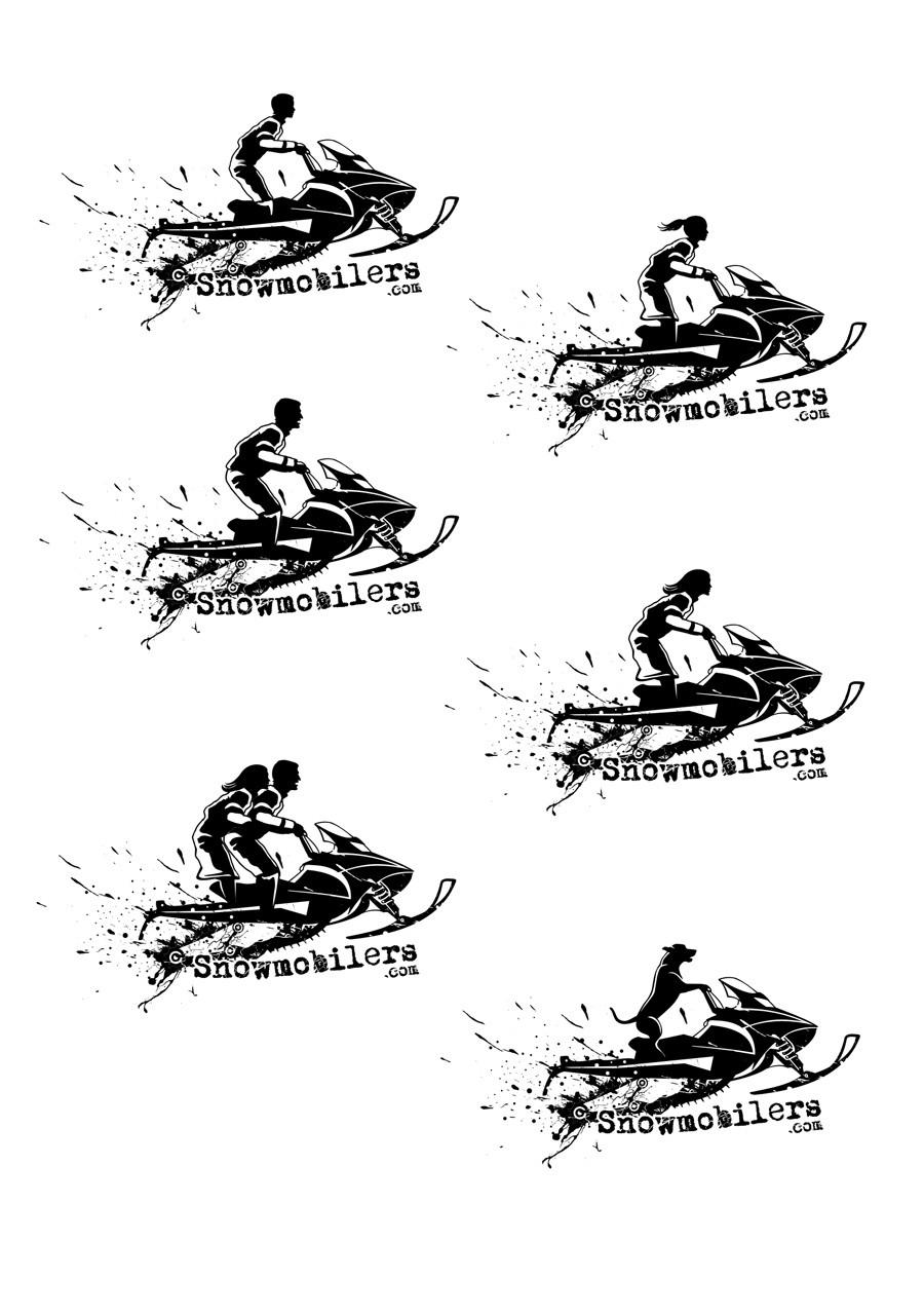 Create cool snowmobiler car window graphics for stickers for snowmobilers.com/sledders.com