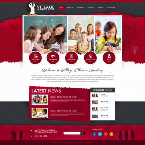 Webdesign for Village Charter Academy