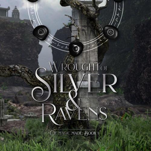 Paperback fantasy novel cover design