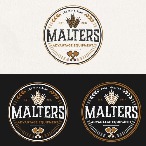 Vintage logo for craft malting