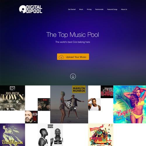 Create a lead-generating homepage for Digital DJ Pool