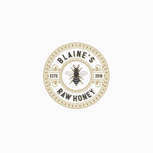 Logo Concept For Blaine's Raw Honey