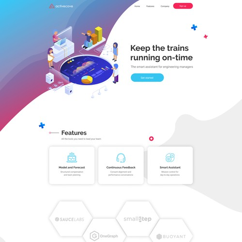 Web-page design for digital assistant company
