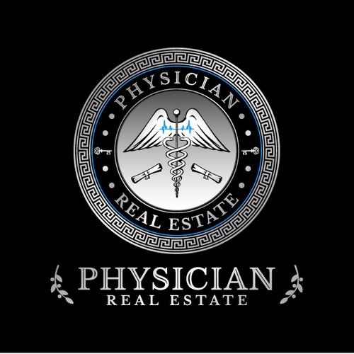 Real estate logo in Greek style