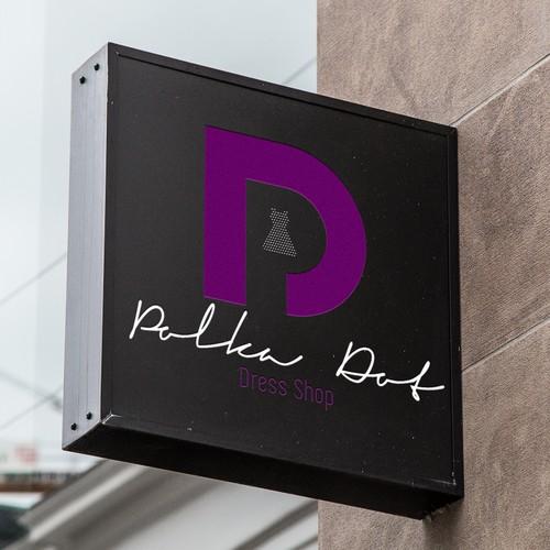 Polka Dot Dress Shop Logo Design