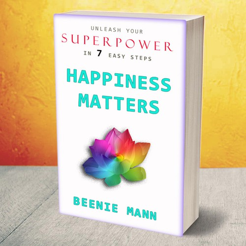 """Book cover design - book """"Happiness matters"""""""