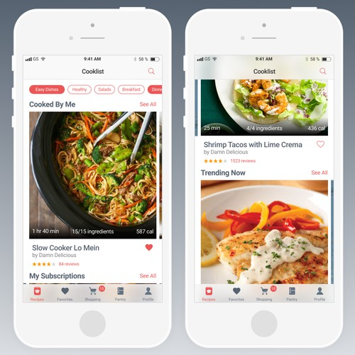 App Design for The Future of Cooking and Grocery Shopping