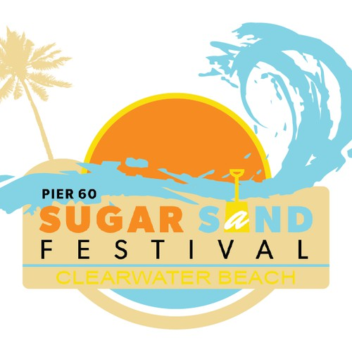Beach T-shirt Design for Pier 60 Sugar Sand Festival