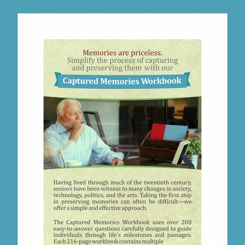 Magazine Ad for Memories In Writing