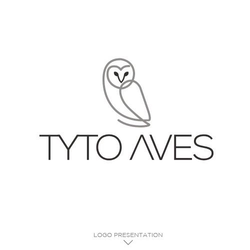 Owl logo - Tyto Aves