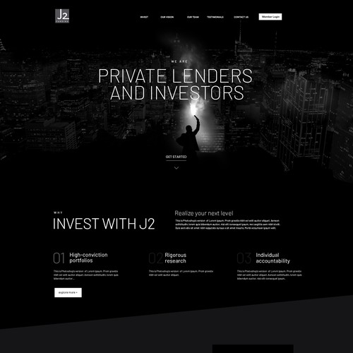 Finance and Account website redesign