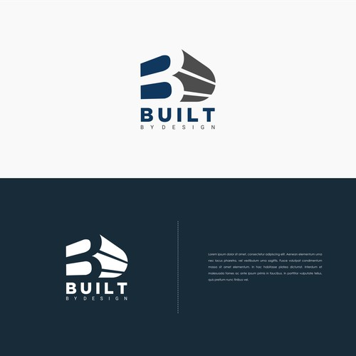 Simple concept logo for Built By desaign