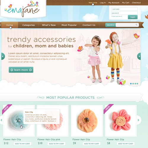 New website design wanted for Ema Jane