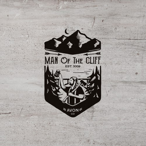T-Shirt design for Man Of The Cliff, lumberjack competition in Avon, Colorado