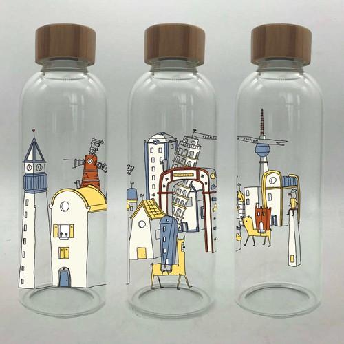 Flâneur edition: Bottle wrap illustration