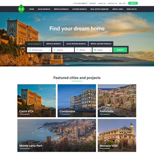 Real estate website UX /UI design