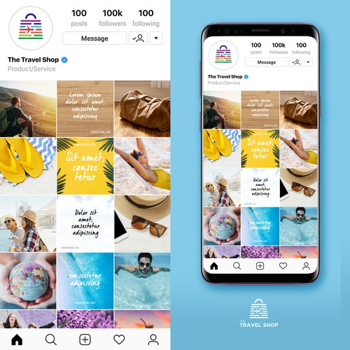 Instagram Feed for Travel Shop