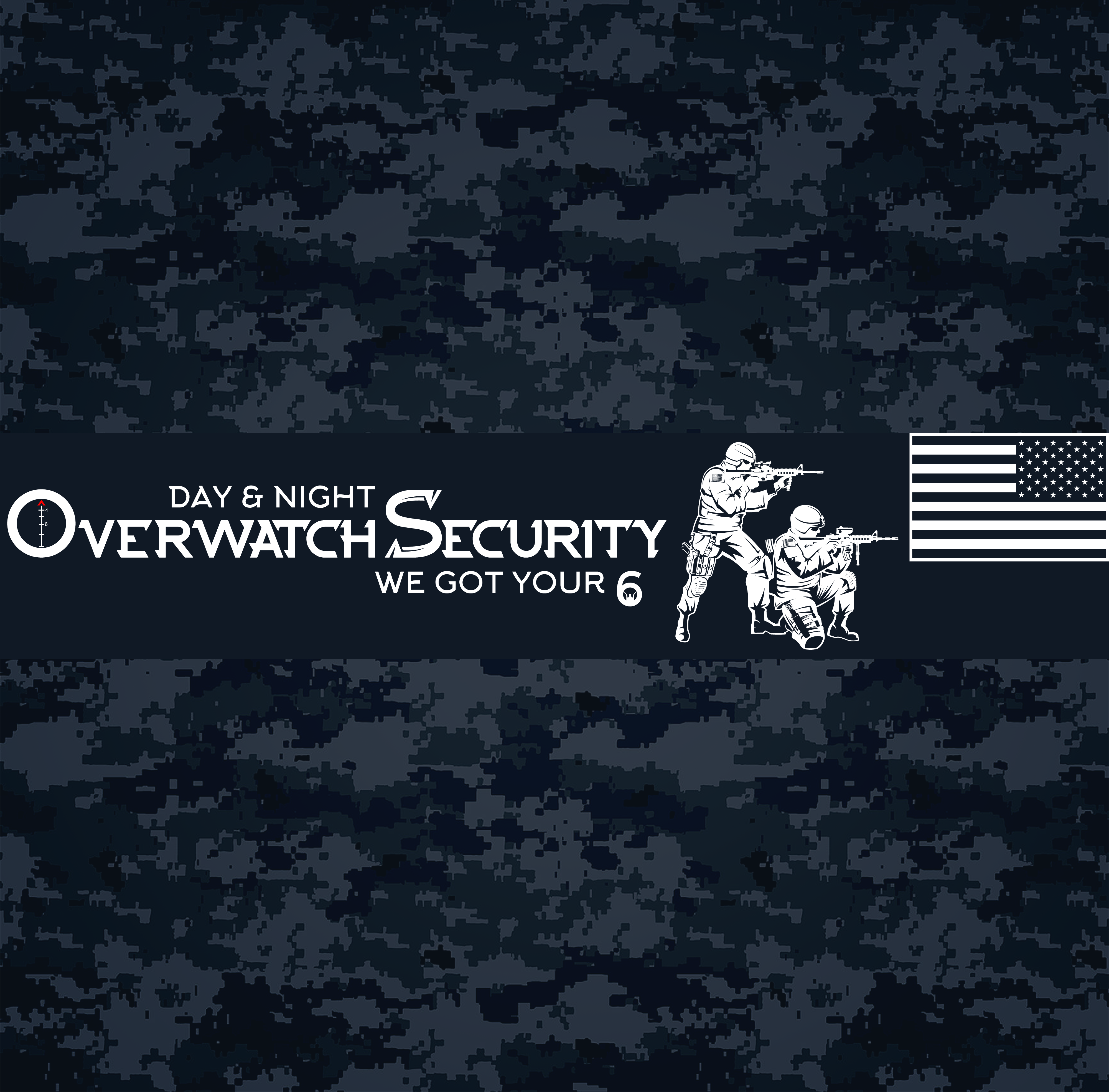 Overwatch Security; Day & night, we got your 6///// Logo Only