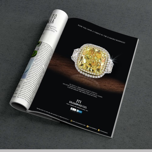 custom magazine AD for jewelry store