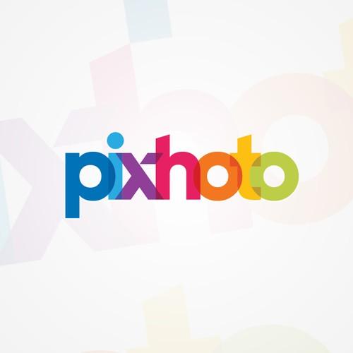 Pixhoto的徽标设计