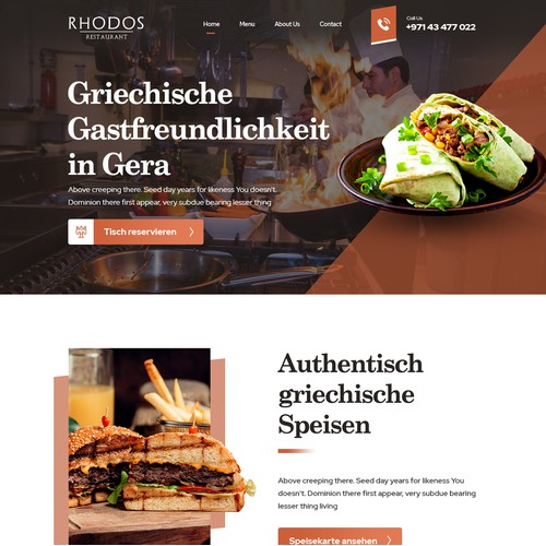 Restaurant Homepage Design