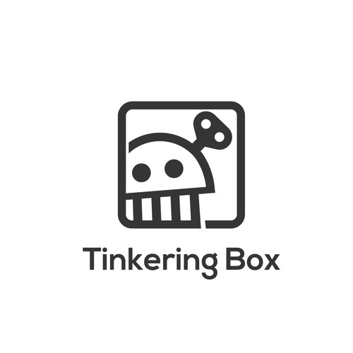 Simple Monoline Robotic Logo for Tinkering Box