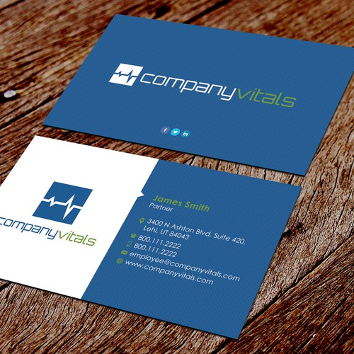 Company Vitals Business Card