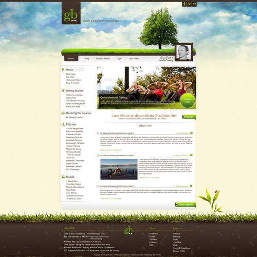 Natural, Living and Breathing website design
