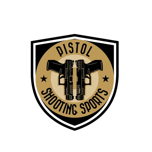 "Retro style logo for ""Pistol Shooting Sports"""