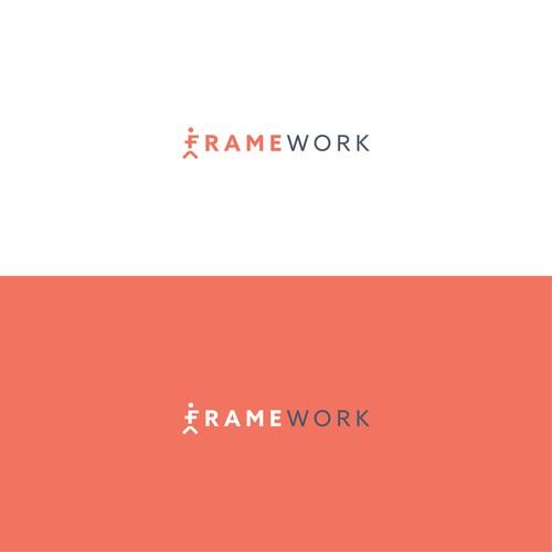 FrameWork Pilates Logo Design