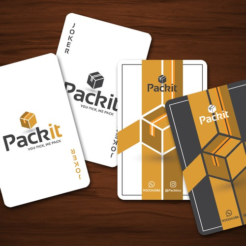 Pack it playing cards