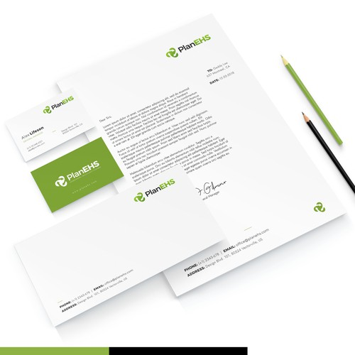 Stationery design for environmental consulting firm