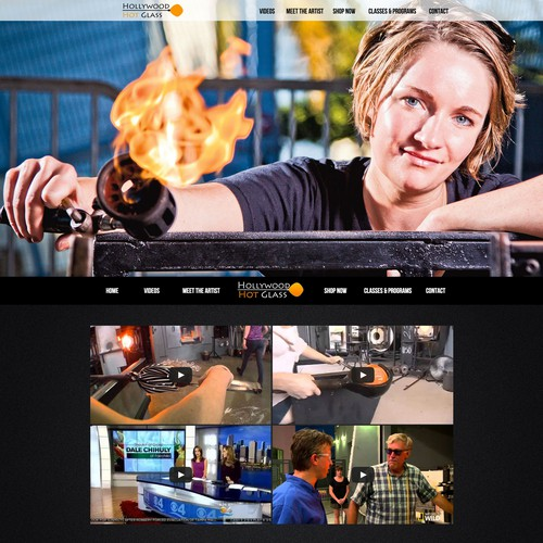 Hollywood Hot Glass Website Design