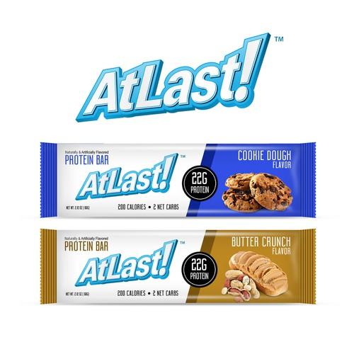 AtLast Protein Bar Package Design