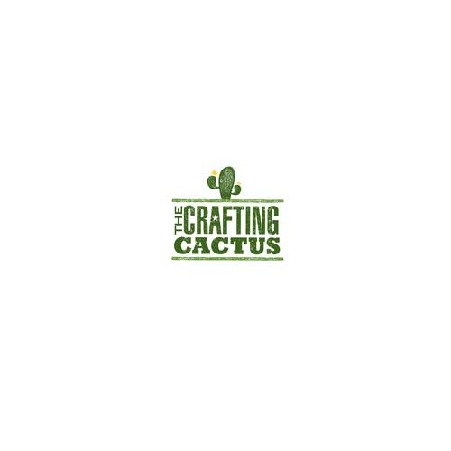 The Crafting Cactus DIY Craft Bar Logo Concept