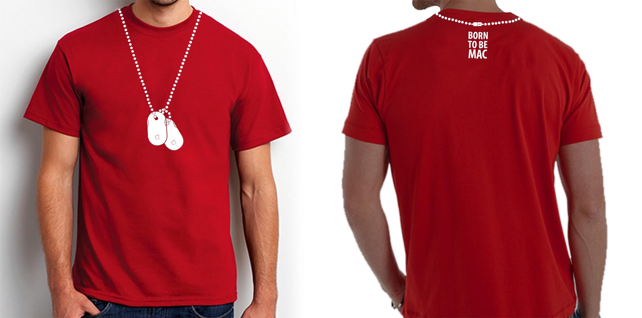 Apple themed T-shirt design