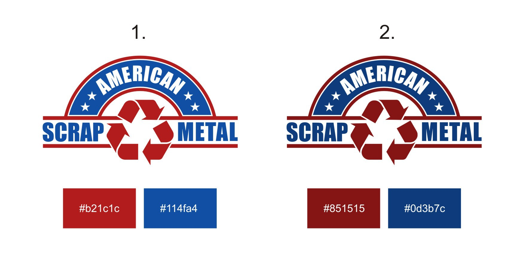 Design a Logo for a Scrap Metal Business with an American flare