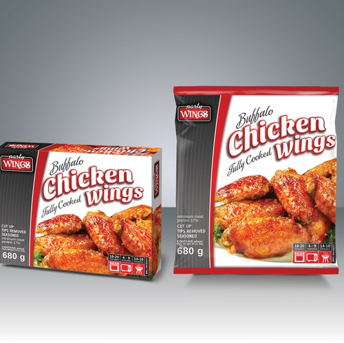 New product packaging wanted for Party Wings