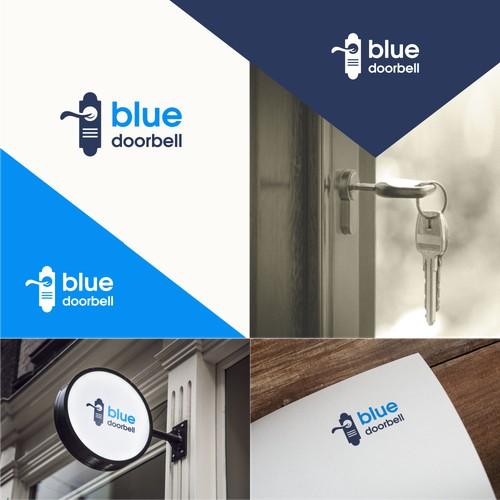 blue doorbell