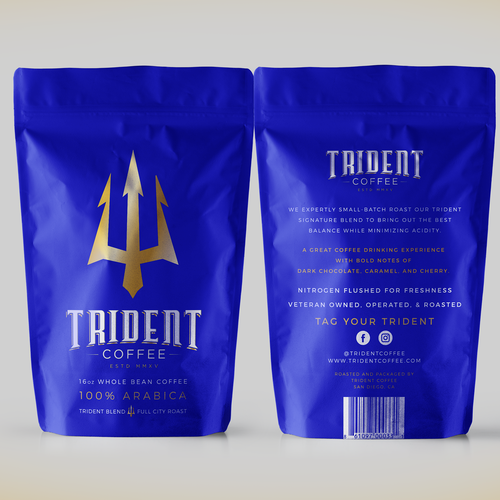 packaging design for coffee product