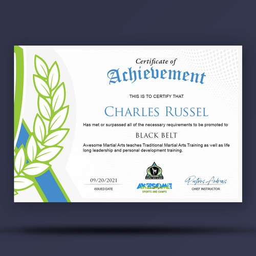 Awesome Certificate Template