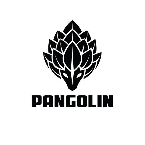 Logo concept for pangolin sports